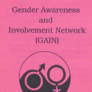 "[Paper reading ""Gender Awareness and Involvement Network (GAIN)"" with a logo underneath made up of a yin yang symbol with a male and female symbols inside of it]"