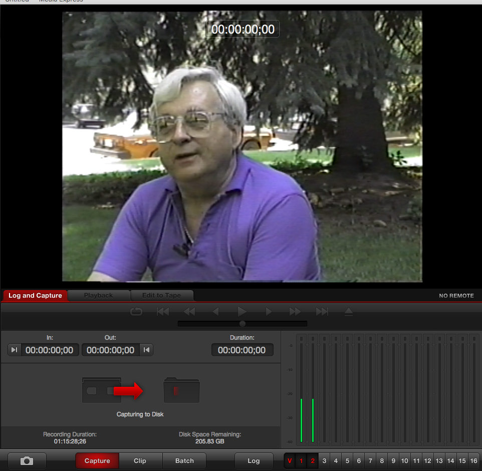 VHS Digitization of George Hislop oral history interview
